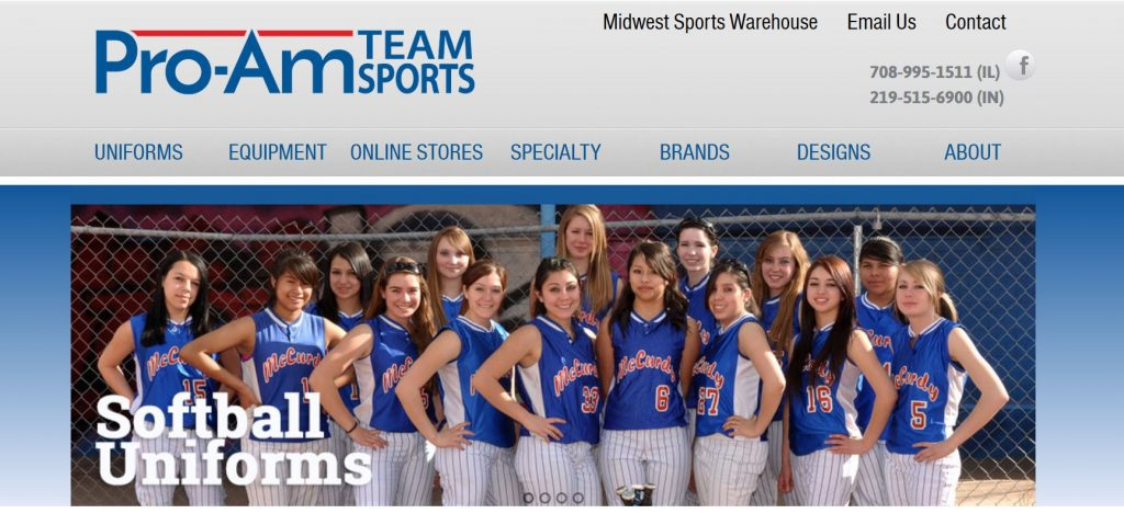 Pro-Am Team Sports Website